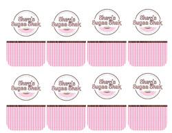 Shay's Sugaa Shak Rectangular Sticker Sheet