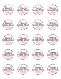 Shay's Sugaa Shak White Background Sticker Sheet