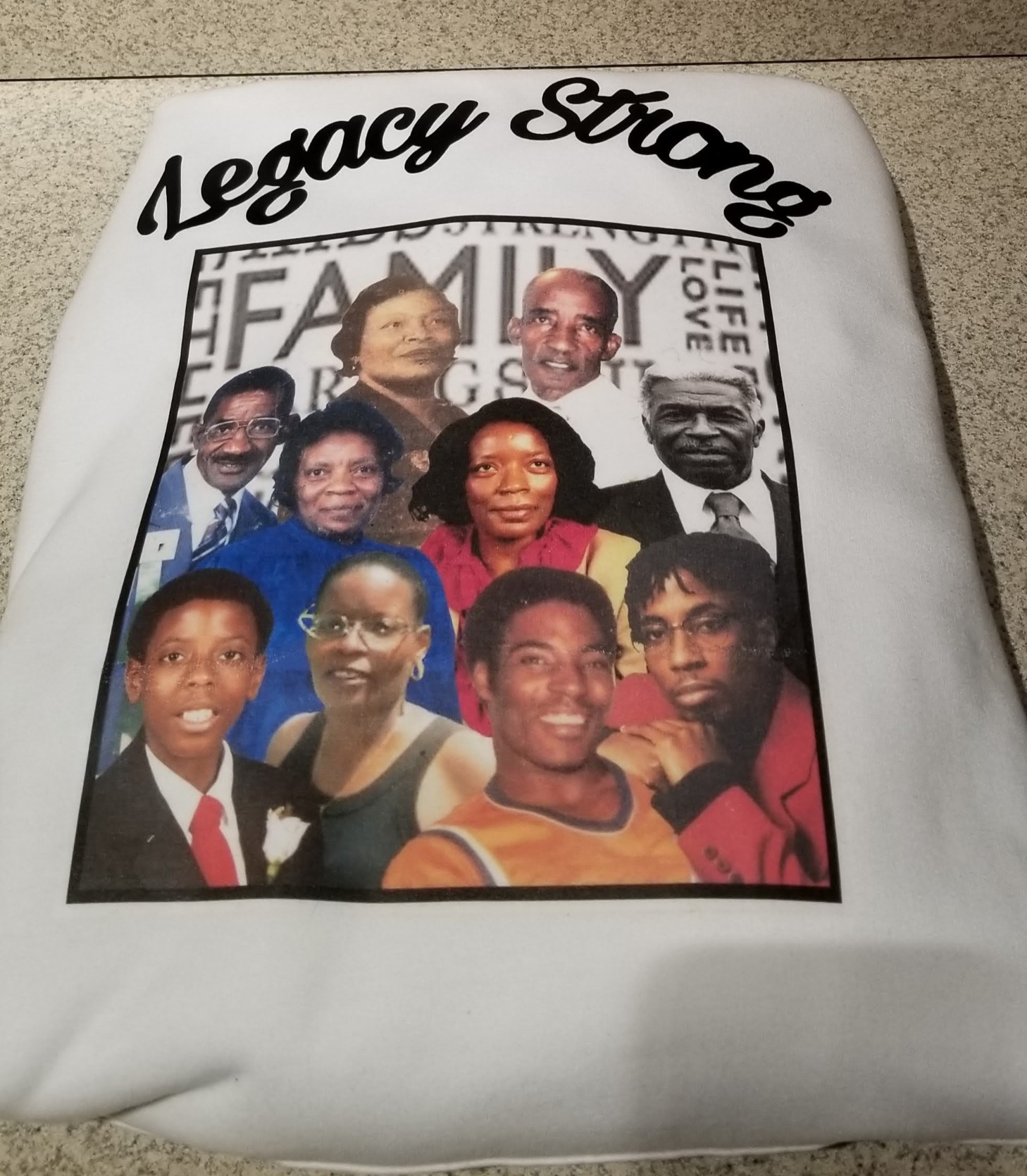 Legacy Strong Hoodie and Shirt Bundle (Front)