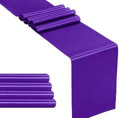 Purple Satin Table Runner