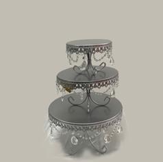 Silver Candy Dish Risers