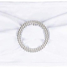 White Sash with Silver Buckle