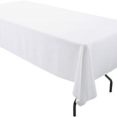 White, Rectangular Tablecover