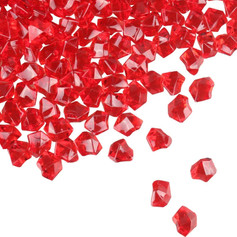 Red Diamond Decorative Vase Filler