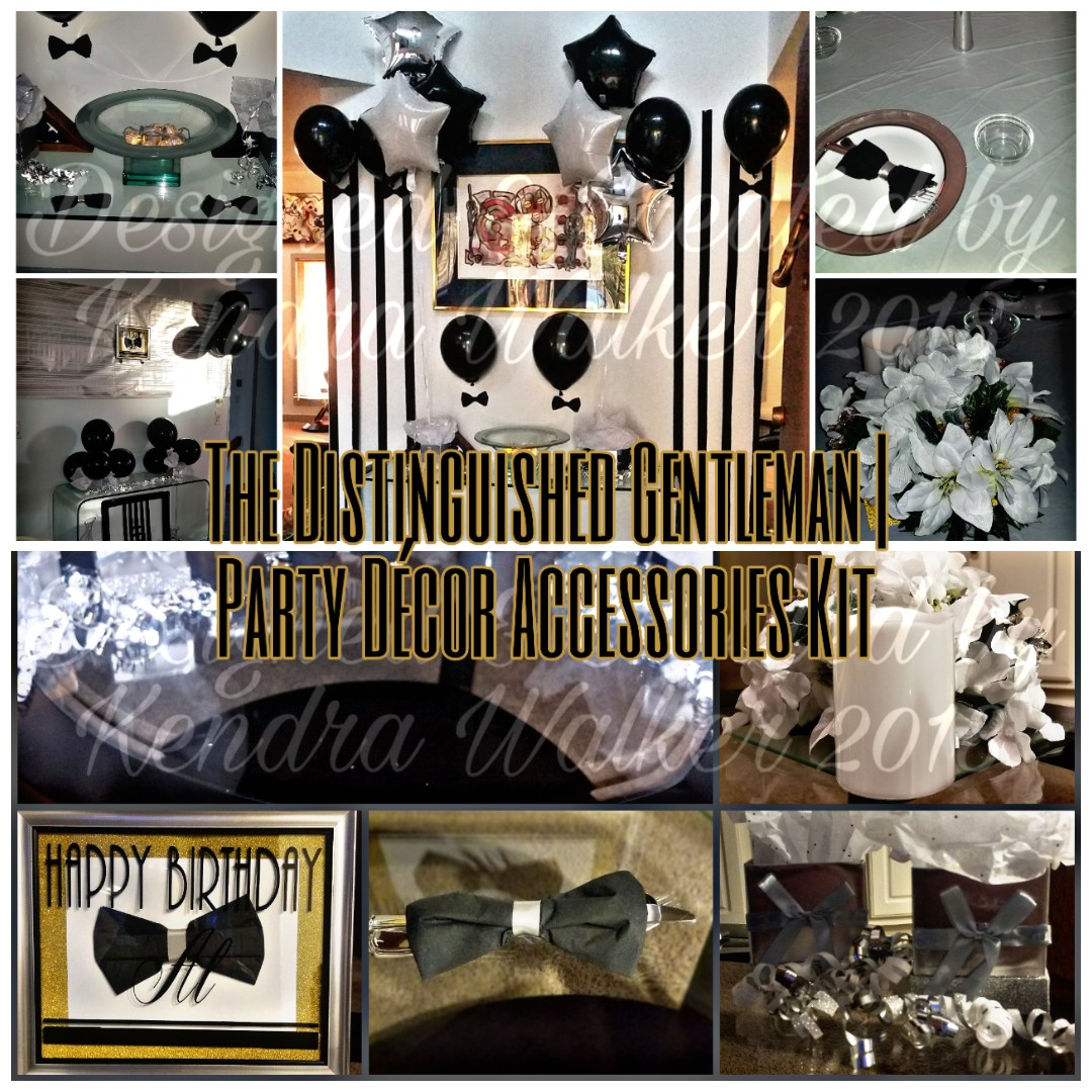 The Distinguished Gentleman | Party Décor Accessories Kit (PDAK)