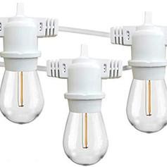 10ft Decorative White LED String Lights