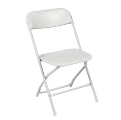 White, Plastic Foldable Chair
