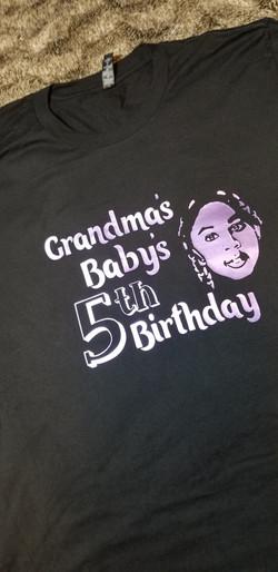 Trolls Font Grandma's Grandbaby' Birthday Shirt