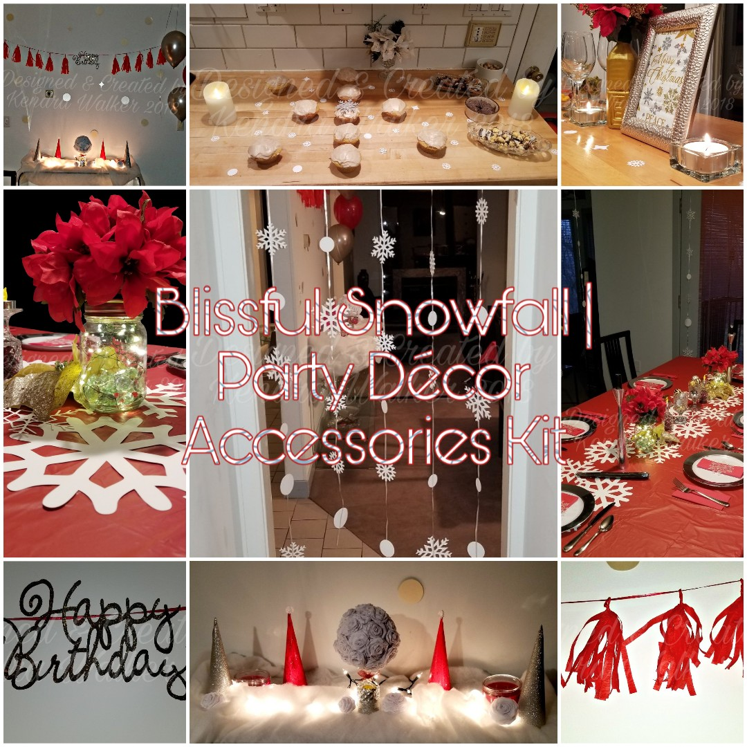 Blissful Snowfall | Party Décor Accessories Kit (PDAK)