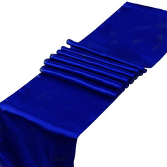 Blue Satin Table Runner