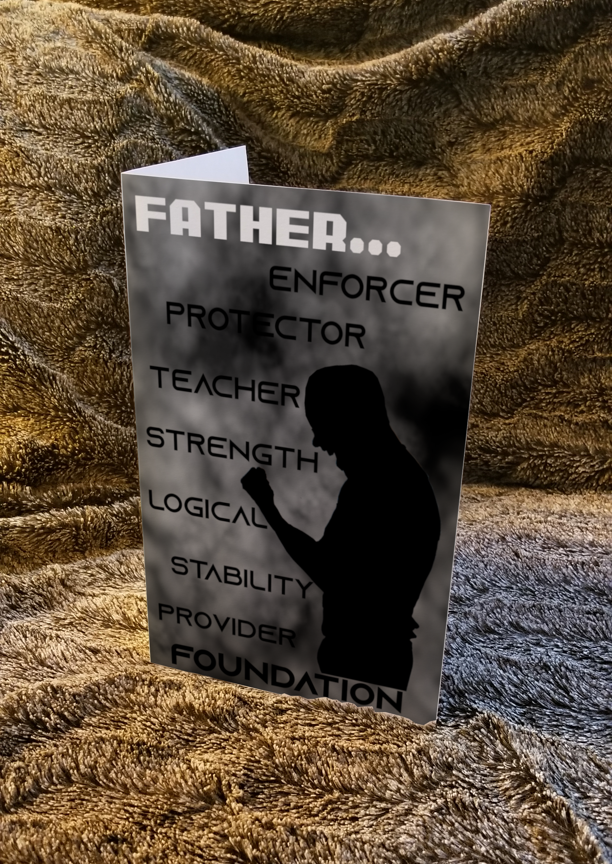 Father's Day Greeting Card | Strength (Front Cover)