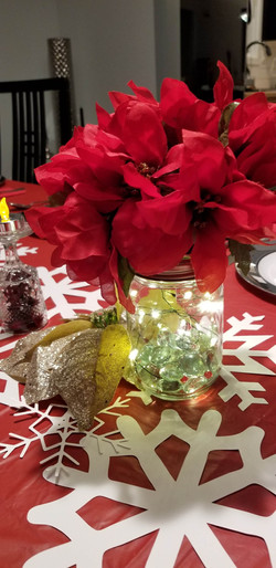 Table Decorations with Christmas/Winter Themed Snowflakes