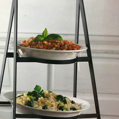 3 Tier Collapsible Server with Plates