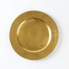Gold Round Charger Plates