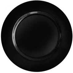 Black Charger Plates