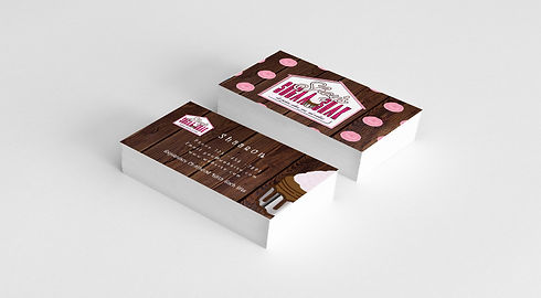 Bakery Business Card Mockup
