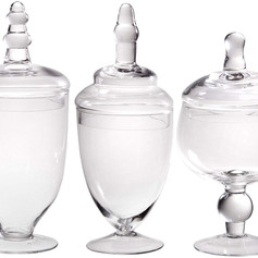 Small, Medium, Large Clear Candy Dishes