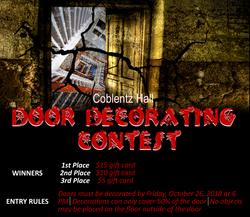 Coblentz Hall Door Decorating Contest.pn