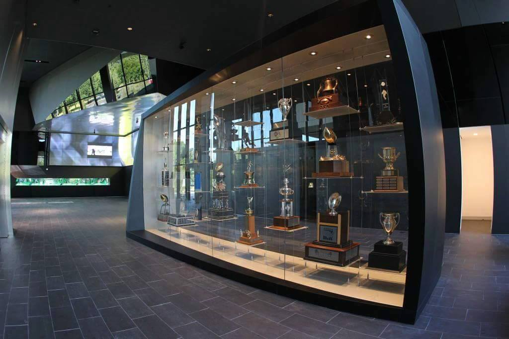 Ducks Trophy Case