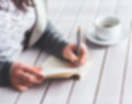 girl writing resume