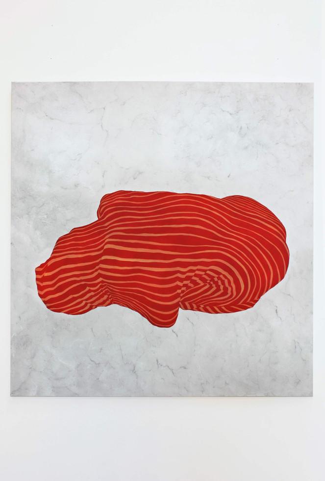 Rör IV, 140x140 cm, tempera och akryl å canvas, 2018