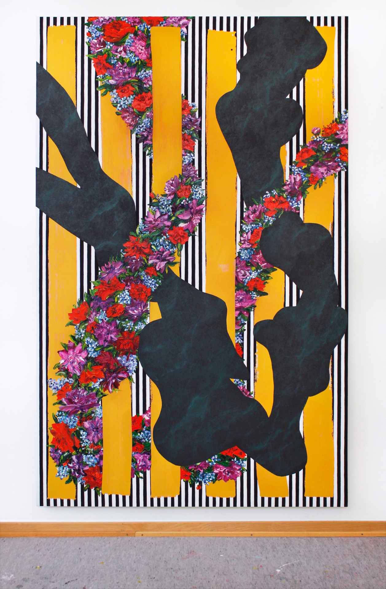 Charline, 215x135 cm, olja, tempera och akryl på bomullsduk, 2020