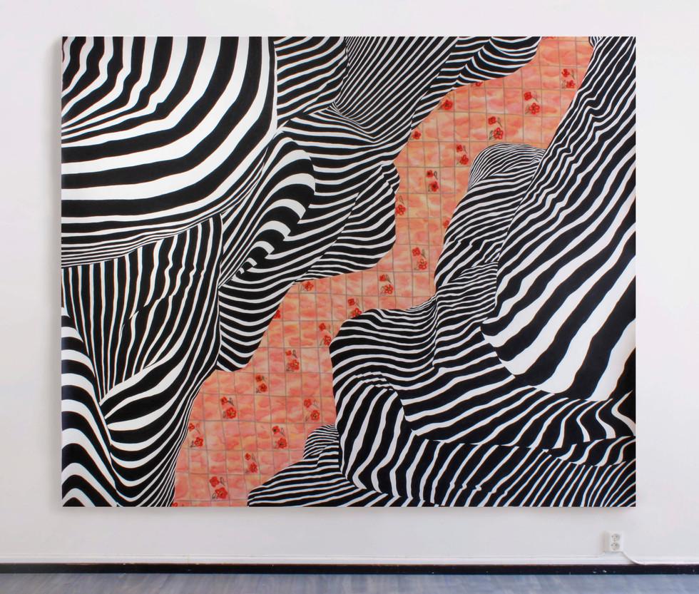 Fjord, 230x290 cm, olja och akryl på canvas, 2019
