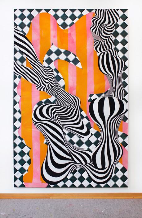 Flexur, 210x135cm, tempera and acrylic on cotton canvas, 2020