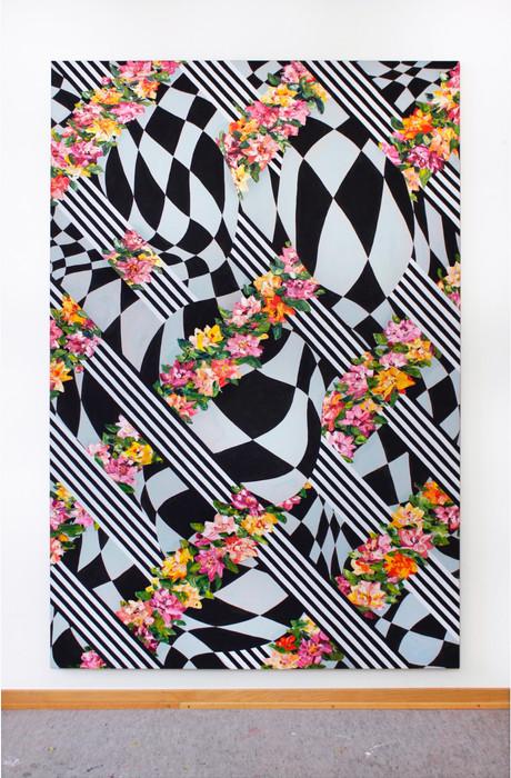Pergola, 200x135cm,  tempera, oil and acrylic on cotton canvas, 2021