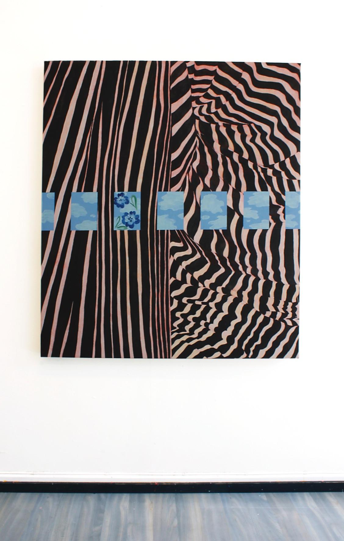 Kakel II, 130x110 cm, olja, tempera och akryl på canvas, 2019