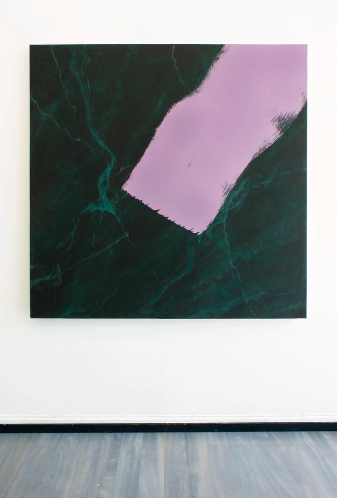 Trend, 130x130 cm, akryl på bomullsduk, 2019