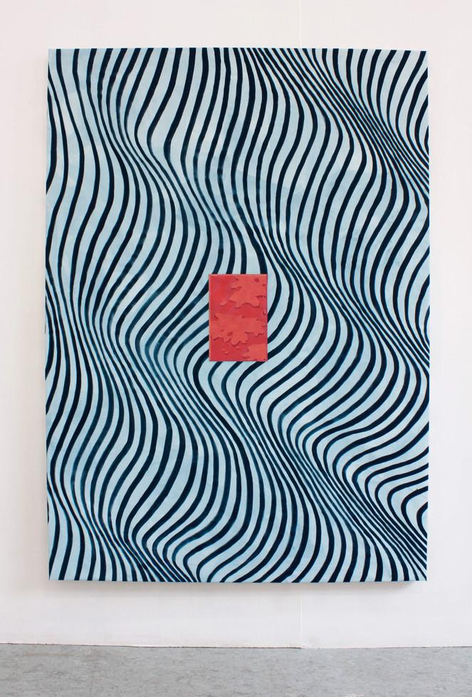 Kakel I, 190x135 cm, olja, tempera och akryl på bomullsduk, 2018