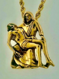 Mother & Son Pendent- Gold