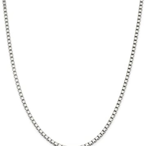 "Sterling Silver Chain - 30"" 3 MM (Adjustable) Men's"