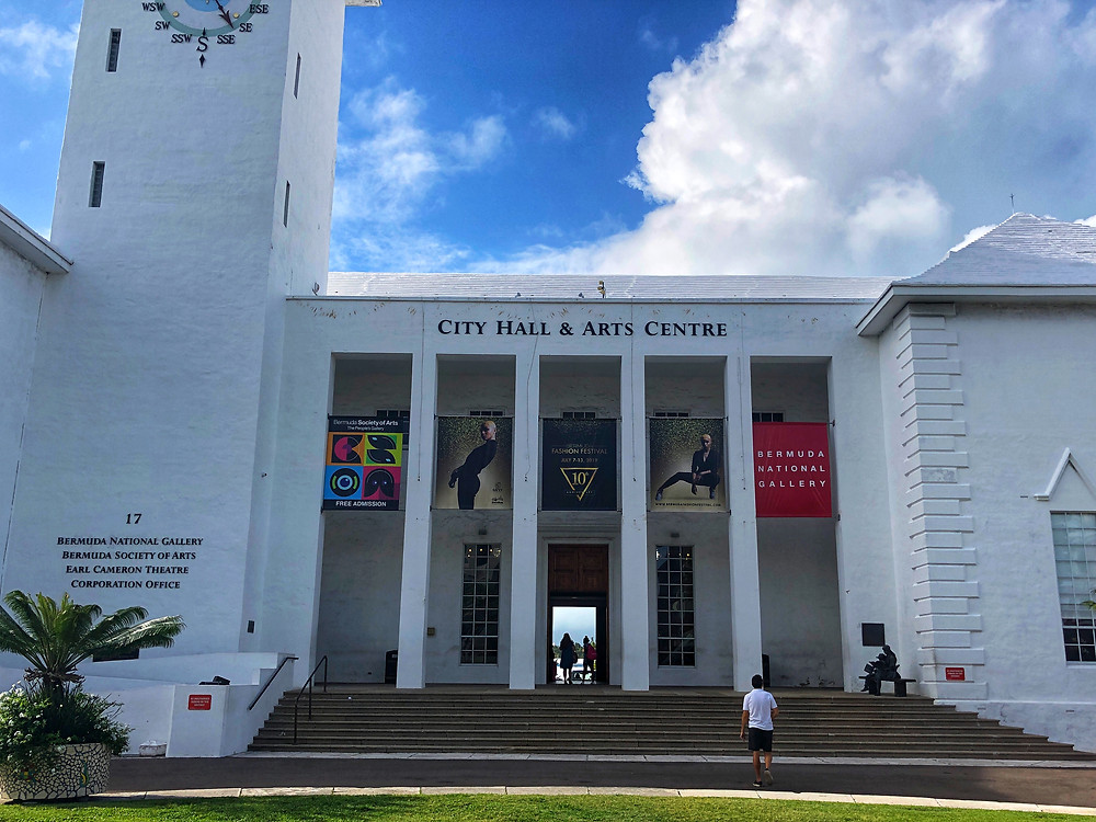 This beauty of a building houses City Hall, Bermuda Society of Arts, and the National Gallery of Bermuda