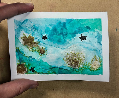 Inky Sea Turtles