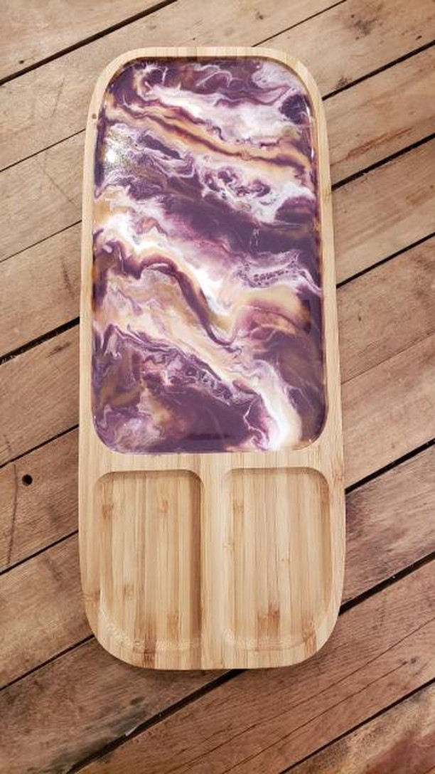 Bamboo and Resin Cheeseboard Workshop