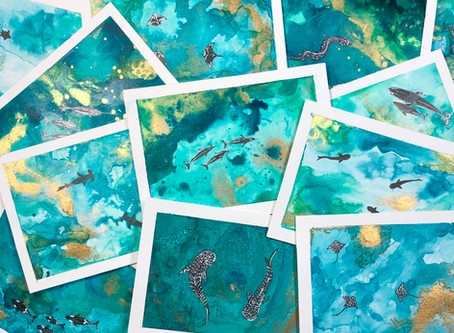 Help Protect the Ocean with the Inky Ocean Art Collection