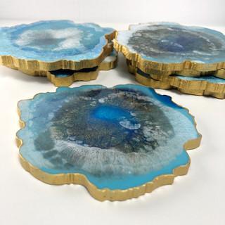Ocean Agate Resin Coasters