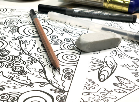 Finding Your Creative Calm with Free Art Colouring Pages for YOU