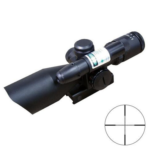 XTS 2.5-10X40G COMPACT MIL DOT SCOPE WITH GREEN LASER
