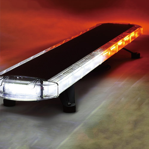 "Amber/White 88 LED 47"" COB LED Rooftop Strobe Light Bar with 28 Modes and Mounti"