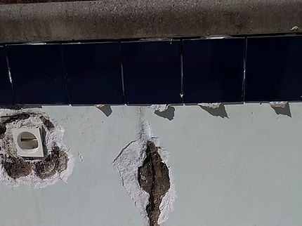 Pool Crack Before Repair