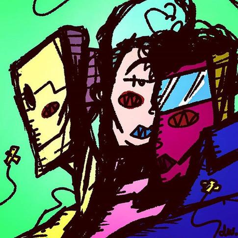 Rad trio__#piep #art #comic #illustratio