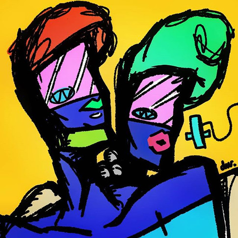 Galactic Fashion Twins!! #art #piep #ill