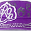 Thumbnail: Bling Paw Print Military Style Hat Purple & White