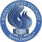 Board certified sports dietititian nutritionist