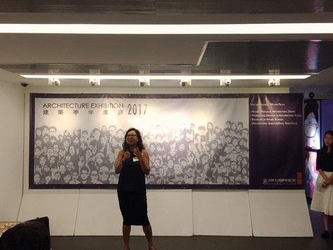 Our senior programme director Ms. Mona Yeung giving speech in the opening ceremony.
