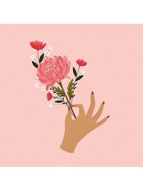 """Serviette bambou """"bouquet"""""""