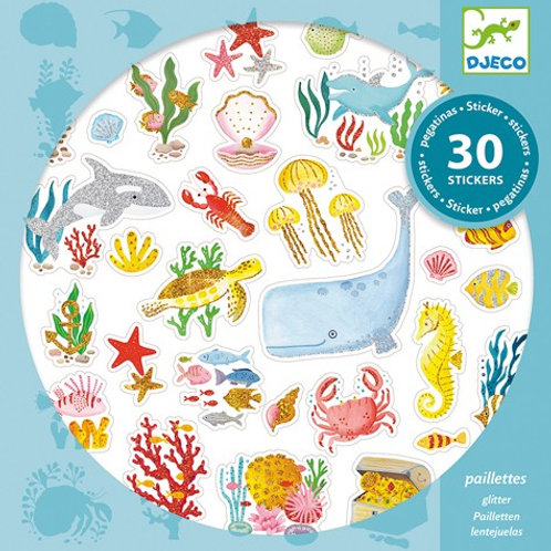 30 Stickers Aqua Dream